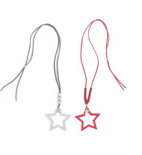 Collar estrella granate y gris de Eve Children | Aiana Larocca