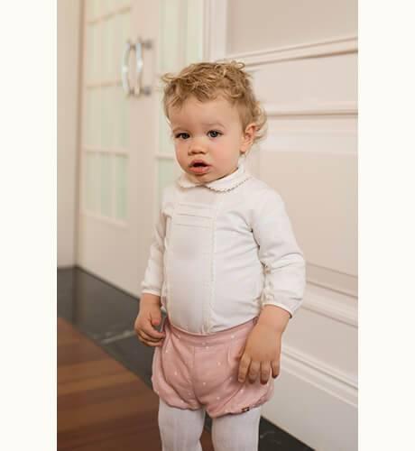 Conjunto bebe bombacho rosa y camisa de Dolce Petit   Aiana Larocca