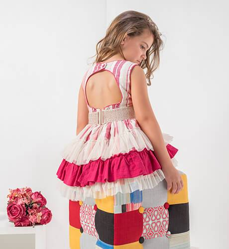 Vestido a rayas rosa espalda abierta de Nekenia | Aiana Larocca