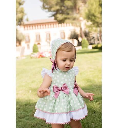Jesusito bebé verde topitos blanco de Dolce Petit | Aiana Larocca