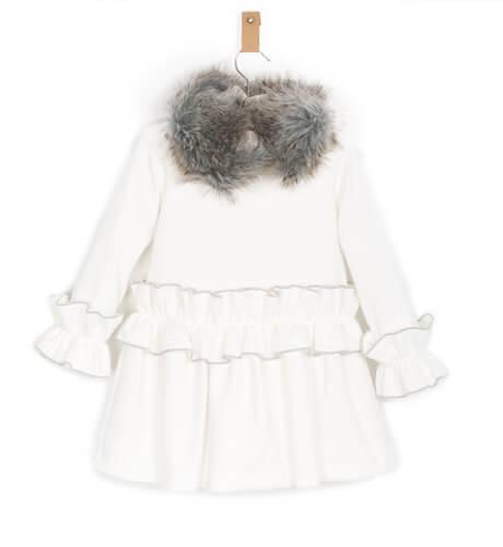 Vestido crudo detalle gris de Rochy | Aiana Larocca