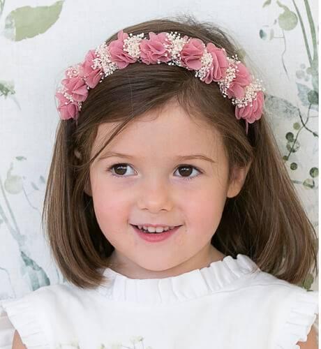 Diadema flores rosa Siena | Aiana Larocca