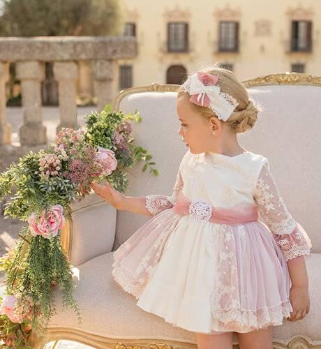 Vestido ceremonia tul bordado de Dolce Petit | Aiana Larocca