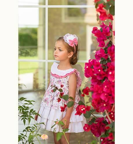 4af25f529 Vestido niña estampado floral de Dolce Petit