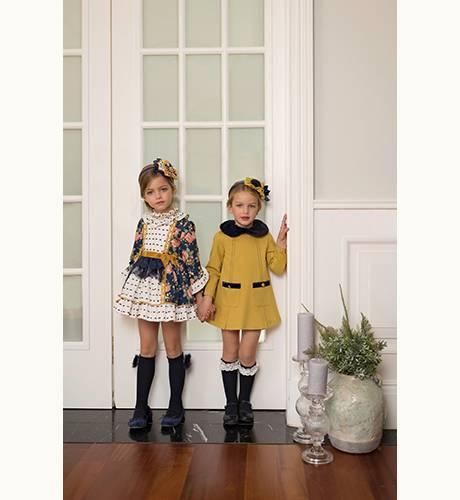 Vestido niña mostaza de Dolce Petit | Aiana Larocca