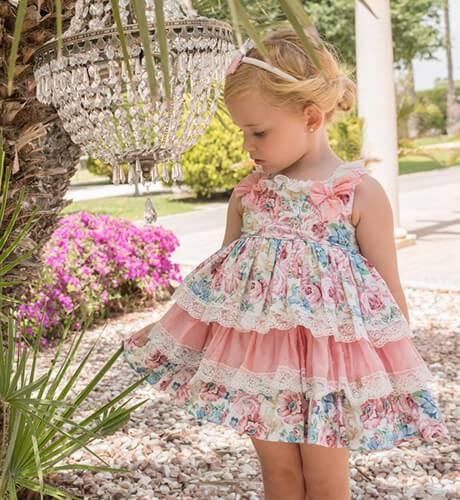 Vestido niña talle alto estampado floral de Dolce Petit | Aiana Larocca