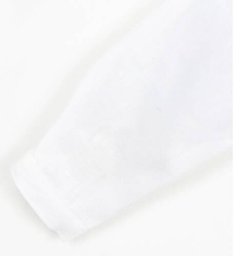 Camisa bebé lino crudo cuello mao Boometi | Aiana Larocca