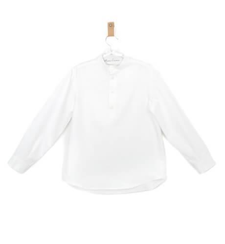 Camisa niño cuello mao villela | Aiana Larocca