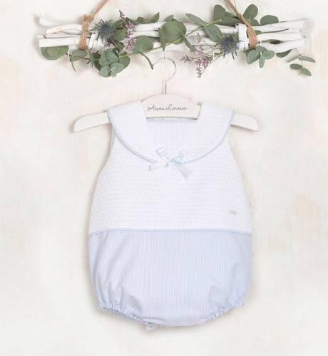 Ranita bebé marinera azul y blanca de Yoedu | Aiana Larocca