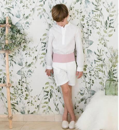 Pantalón niño ceremonia crudo | Aiana Larocca