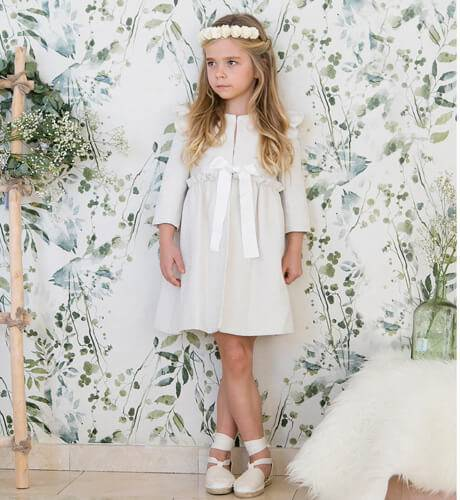 Abrigo niña Milan Tweed de Nueces Kids | Aiana Larocca