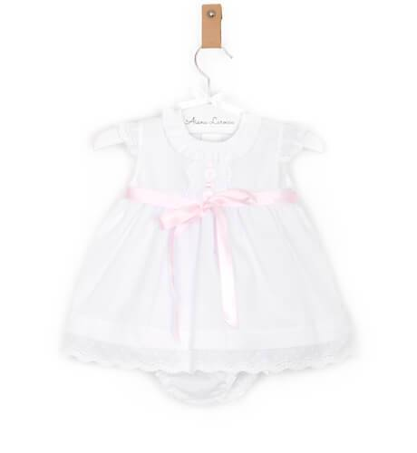 -NUEVO- Jesusito bebé blanco detalla puntilla y lazo | Aiana Larocca