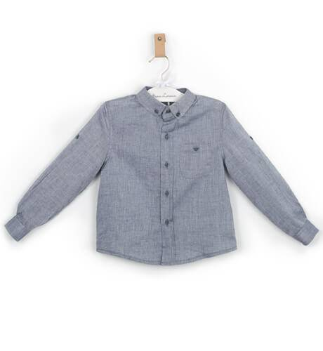 Camisa niño azul denim de Fina Ejerique | Aiana Larocca