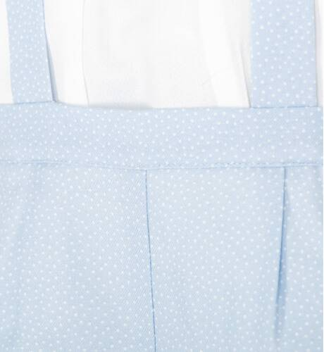 Conjunto bebe tirantes azul de Dolce Petit | Aiana Larocca