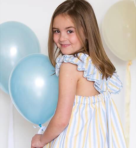 Vestido niña tirantes volante de Blanca Valiente   Aiana Larocca