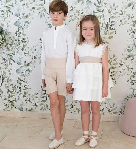 Pantalón niño ceremonia avellana | Aiana Larocca