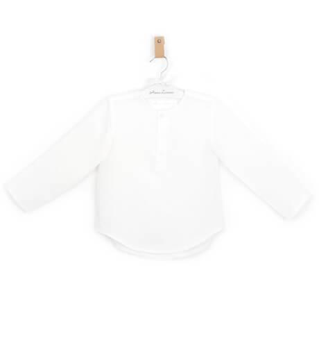 -NUEVO- Camisa niño lino blanco roto | Aiana Larocca