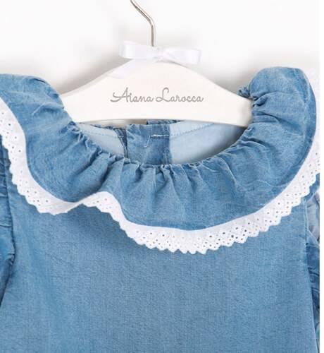 Vestido niña azul denim de Fina Ejerique | Aiana Larocca
