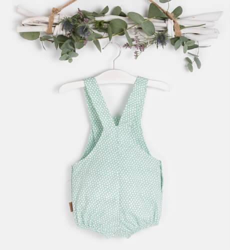 Ranita bebé peto estampado verde de Cocote | Aiana Larocca