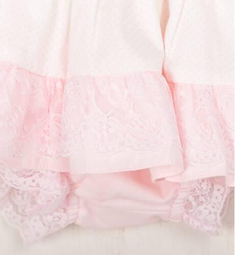 Jesusito topitos rosa bebe con capota de Dolce Petit | Aiana Larocca