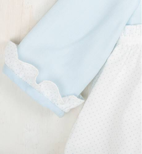 Ranita bebe topitos azul de Dolce Petit | Aiana Larocca