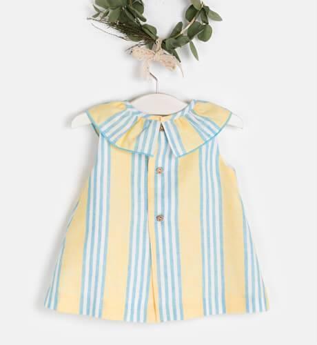 Vestido bebé a rayas amarillas de Ancar   Aiana Larocca