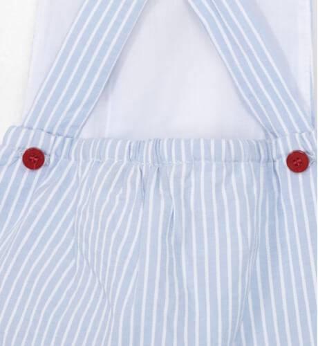 Peto ranita bebe a rayas azul con rojo de Dolce Petit | Aiana Larocca