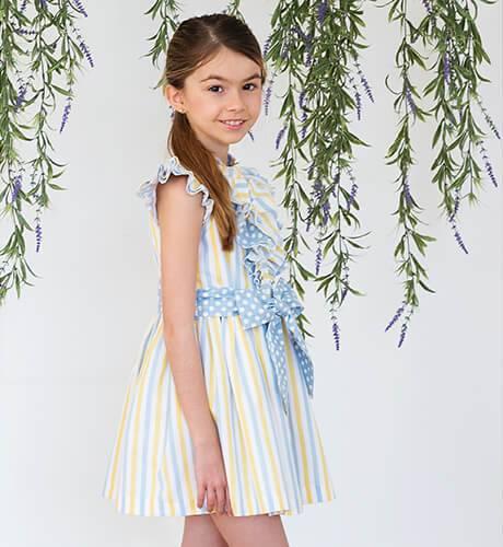 Vestido niña camisero a rayas de Blanca Valiente | Aiana Larocca