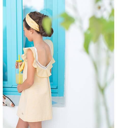Vestido a rayas amarillas de Eve Children | Aiana Larocca