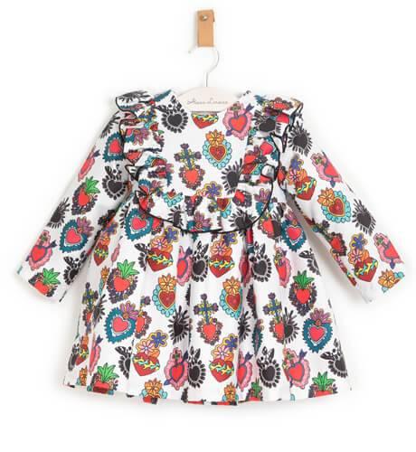 Vestido niña estampado corazones de Mon Petit Bonbón | Aiana Larocca