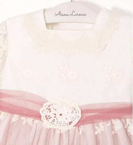 Jesusito bebe ceremonia tul bordado de Dolce Petit | Aiana Larocca