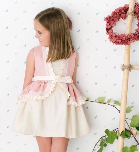-NUEVO- Vestido ceremonia niña en linotex de Nekenia | Aiana Larocca