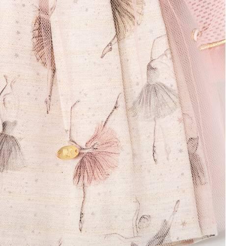 Vestido niña bailarinas detalle pompón de Marta y Paula | Aiana Larocca