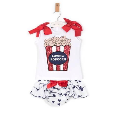Conjunto camiseta y braguita corazones de Mont Petit Bonbon | Aiana Larocca