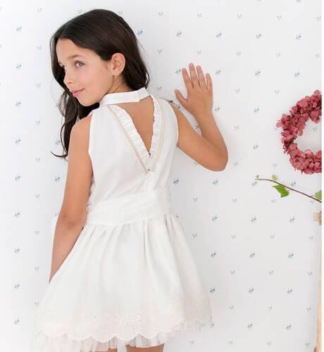 -NUEVO- Vestido niña puntas bordadas con tul de Nekenia | Aiana Larocca