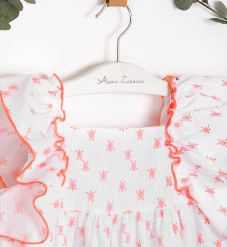 Vestido Niña Turttle coral de Eve Children | Aiana Larocca