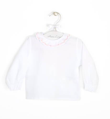 Camisa algodón con cuello de volantes | Aiana Larocca