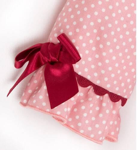 Vestido rosa topitos de Dolce Petit   Aiana Larocca