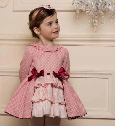 Vestido rosa topitos de Dolce Petit | Aiana Larocca