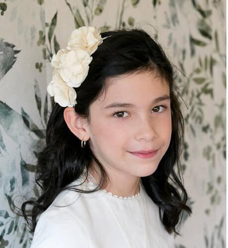 -NUEVO- Diadema flores lateral de Siena | Aiana Larocca