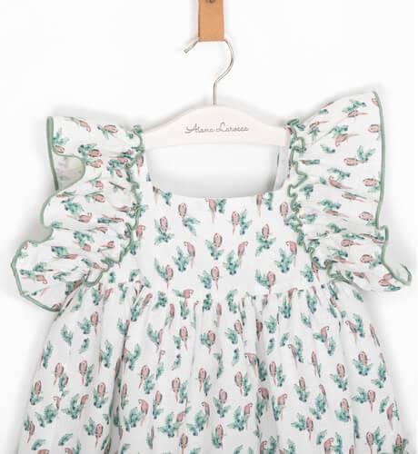 Vestido niña estampado loros de Eve Children | Aiana Larocca
