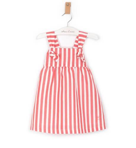 Vestido niña a rayas rojo y blanco de Eve Children   Aiana Larocca