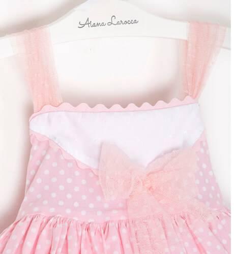 -NUEVO- Vestido niña rosa topitos Alicia de Belcoquet   Aiana Larocca