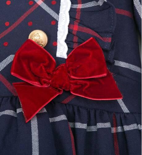 Vestido a cuadros marino corte cintura de Dolce Petit | Aiana Larocca