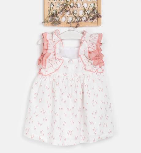 Vestido niña giraffe rosa de Eve Children | Aiana Larocca