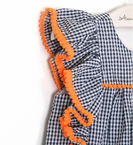 Vestido cuadritos vichy marino de Mon Petit Bonbon | Aiana Larocca