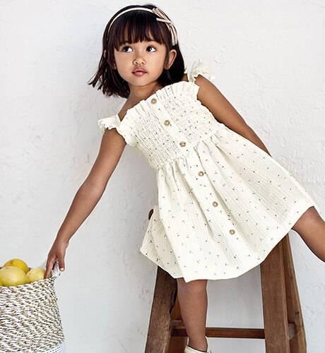 Vestido niña estilo nidos de Mayoral | Aiana Larocca