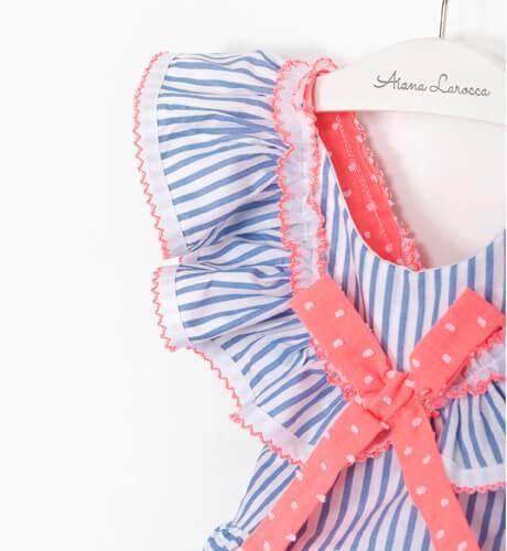 Vestido a rayas azul y blanco de La Amapola - Diverdress | Aiana Larocca
