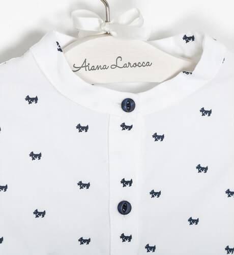 Vestido niña camisero perritos de Blanca Valiente | Aiana Larocca