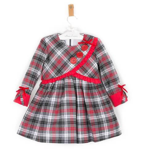 Vestido cuadros rojos y grises de Nekenia | Aiana Larocca
